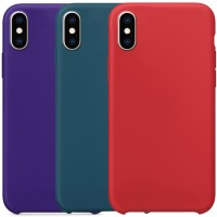 "Чехол Silicone Case without Logo (AA) для Apple iPhone X / XS (5.8"")"
