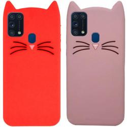 Силиконовая накладка 3D Cat для Samsung Galaxy M31