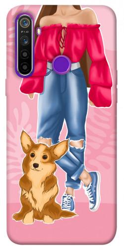 Чехол itsPrint Girl and corgi для Realme 5