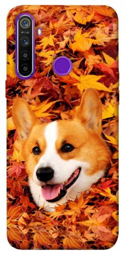 Чехол itsPrint Корги в листьях для Realme 5