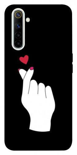 Чехол iPrint Сердце в руке для Realme 6