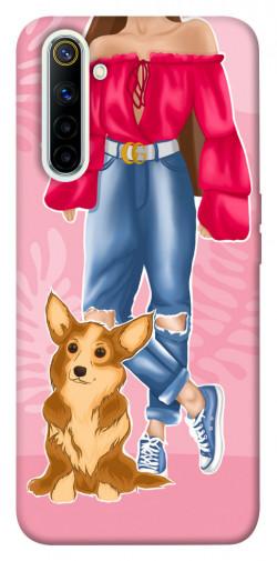 Чехол itsPrint Girl and corgi для Realme 6