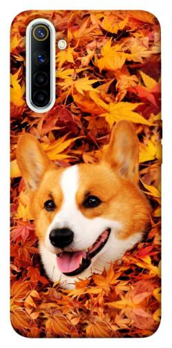 Чехол itsPrint Корги в листьях для Realme 6