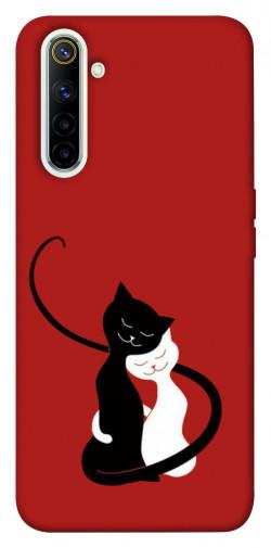 Чехол iPrint Влюбленные коты для Realme 6