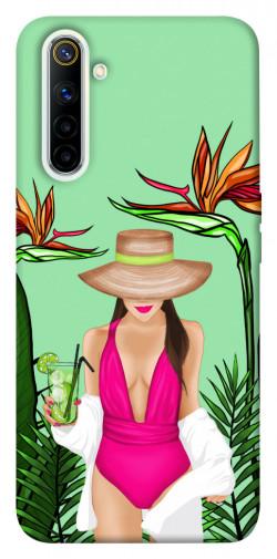 Чехол itsPrint Tropical girl для Realme 6