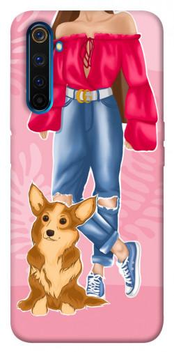 Чехол itsPrint Girl and corgi для Realme 6 Pro