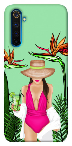 Чехол itsPrint Tropical girl для Realme 6 Pro