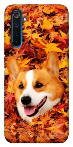 Чехол itsPrint Корги в листьях для Realme 6 Pro