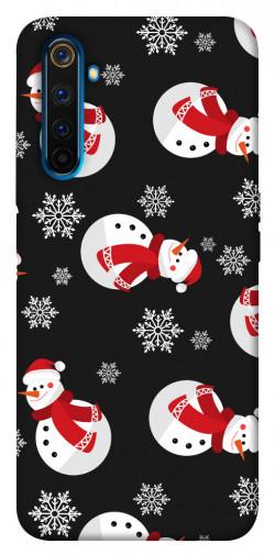 Чехол iPrint Снеговики для Realme 6 Pro