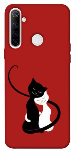 Чехол iPrint Влюбленные коты для Realme 6i