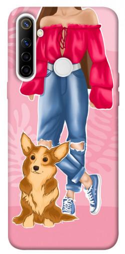 Чехол itsPrint Girl and corgi для Realme 6i