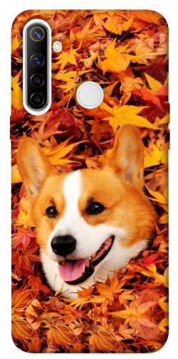 Чехол itsPrint Корги в листьях для Realme 6i