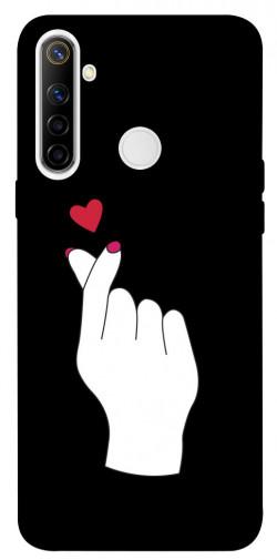 Чехол iPrint Сердце в руке для Realme 6i