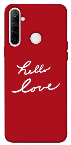 Чехол iPrint Hello love для Realme 6i