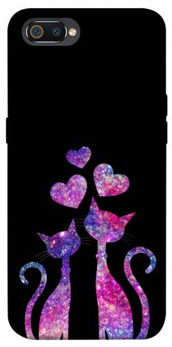 Чехол iPrint Комические коты для Realme C2