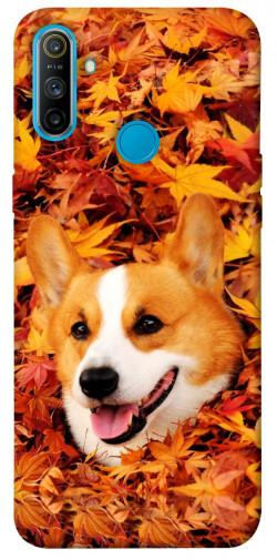 Чехол itsPrint Корги в листьях для Realme C3