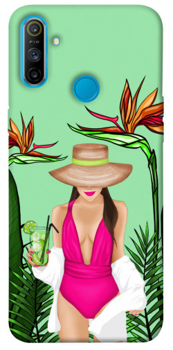 Чехол itsPrint Tropical girl для Realme C3