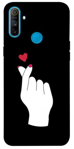 Чехол iPrint Сердце в руке для Realme C3