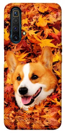 Чехол itsPrint Корги в листьях для Realme X3 SuperZoom