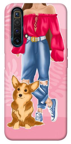 Чехол itsPrint Girl and corgi для Realme X3 SuperZoom