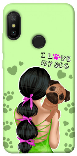 Чехол itsPrint Love my dog для Xiaomi Mi A2 Lite / Xiaomi Redmi 6 Pro