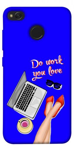 Чехол itsPrint Do work you love для Xiaomi Redmi 4X