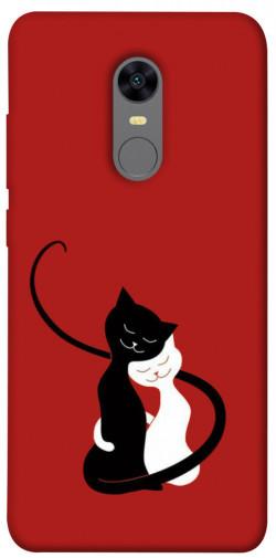 Чехол iPrint Влюбленные коты для Xiaomi Redmi 5 Plus / Redmi Note 5 (Single Camera)