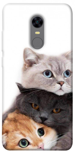 Чехол itsPrint Три кота для Xiaomi Redmi 5 Plus / Redmi Note 5 (Single Camera)