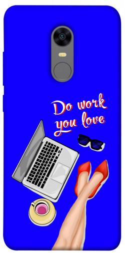 Чехол itsPrint Do work you love для Xiaomi Redmi 5 Plus / Redmi Note 5 (Single Camera)