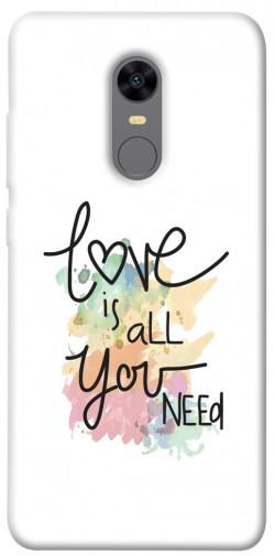 Чехол iPrint Love is all you need для Xiaomi Redmi 5 Plus / Redmi Note 5 (Single Camera)