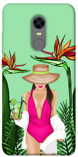 Чехол itsPrint Tropical girl для Xiaomi Redmi 5 Plus / Redmi Note 5 (Single Camera)