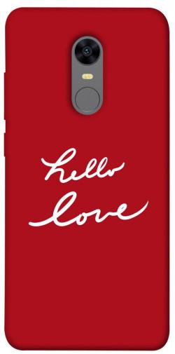 Чехол iPrint Hello love для Xiaomi Redmi 5 Plus / Redmi Note 5 (Single Camera)