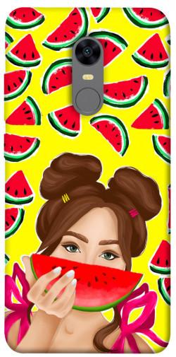 Чехол itsPrint Watermelon girl для Xiaomi Redmi 5 Plus / Redmi Note 5 (Single Camera)