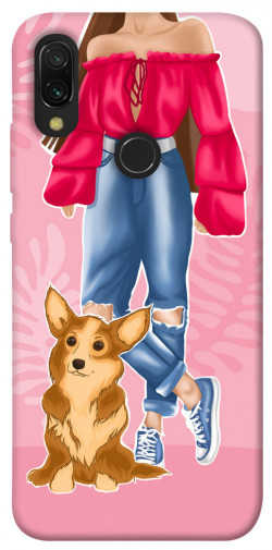 Чехол itsPrint Girl and corgi для Xiaomi Redmi 7