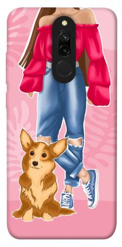 Чехол itsPrint Girl and corgi для Xiaomi Redmi 8
