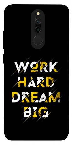 Чехол itsPrint Work hard для Xiaomi Redmi 8