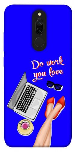Чехол itsPrint Do work you love для Xiaomi Redmi 8