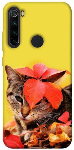 Чехол itsPrint Осенний котик для Xiaomi Redmi Note 8
