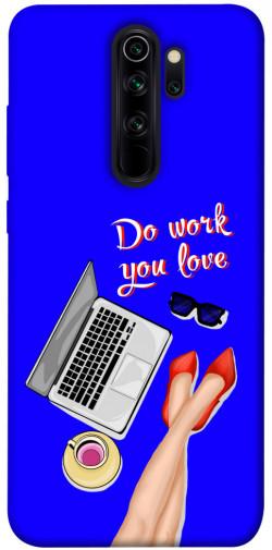 Чехол itsPrint Do work you love для Xiaomi Redmi Note 8 Pro