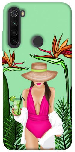 Чехол itsPrint Tropical girl для Xiaomi Redmi Note 8T