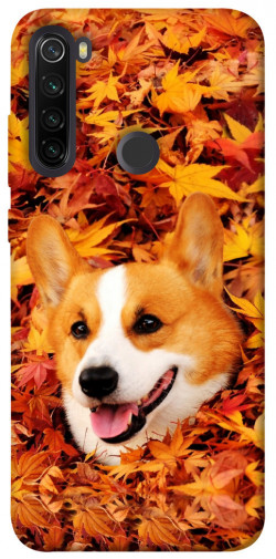 Чехол itsPrint Корги в листьях для Xiaomi Redmi Note 8T