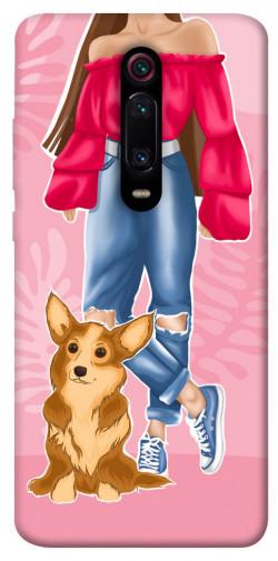 Чехол itsPrint Girl and corgi для Xiaomi Mi 9T Pro