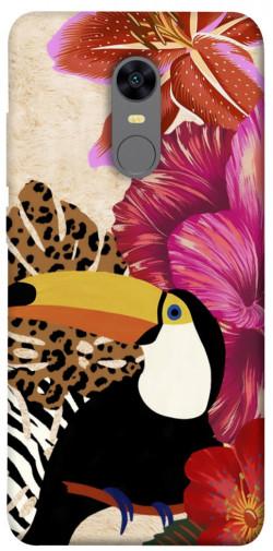 Чехол itsPrint Тукан среди цветов для Xiaomi Redmi 5 Plus / Redmi Note 5 (Single Camera)