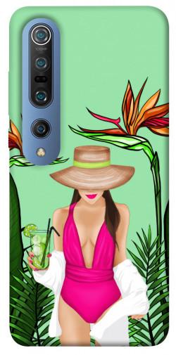 Чехол itsPrint Tropical girl для Xiaomi Mi 10 / Mi 10 Pro