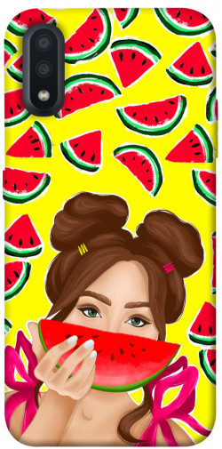 Чехол itsPrint Watermelon girl для Samsung Galaxy A01