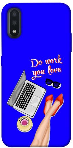 Чехол itsPrint Do work you love для Samsung Galaxy A01