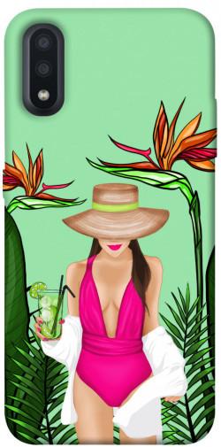 Чехол itsPrint Tropical girl для Samsung Galaxy A01