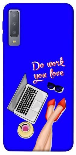 Чехол itsPrint Do work you love для Samsung A750 Galaxy A7 (2018)