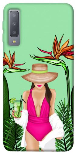 Чехол itsPrint Tropical girl для Samsung A750 Galaxy A7 (2018)