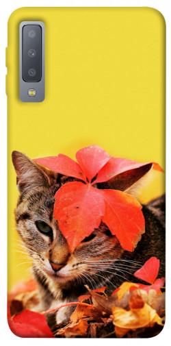 Чехол itsPrint Осенний котик для Samsung A750 Galaxy A7 (2018)